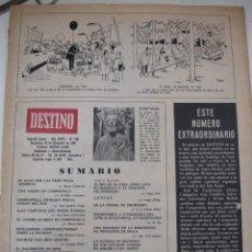 Coleccionismo de Revista Destino: REVISTA DESTINO NO TIENE TAPAS 1965. Lote 40347344