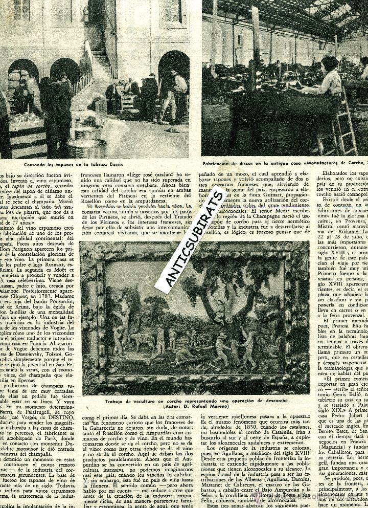 Coleccionismo de Revista Destino: 1953 II CONCURSO DE CANCIONES Y BAILES DE SANABRIA RIBADELAGO GAITA GAITEROS PALAFRUGELL TOSSA - Foto 2 - 18318914