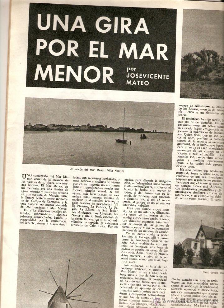 Coleccionismo de Revista Destino: 1965 OPERA MISTERI ELCHE MAR MENOR FELIPE II AEROPUERTO GIRONA TRIAS DE BES REINA ELISABETH BELGICA - Foto 2 - 11879192