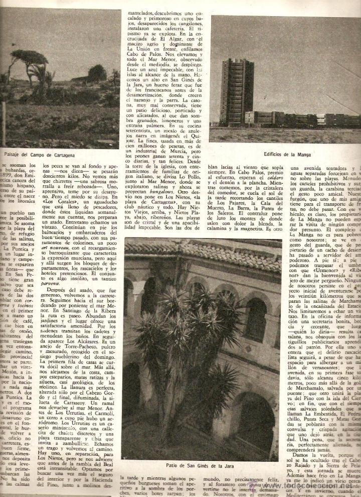 Coleccionismo de Revista Destino: 1965 OPERA MISTERI ELCHE MAR MENOR FELIPE II AEROPUERTO GIRONA TRIAS DE BES REINA ELISABETH BELGICA - Foto 3 - 11879192