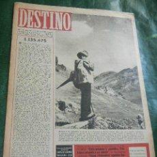 Coleccionismo de Revista Destino: DESTINO N.477 - 7 SEPTIEMBRE 1946. Lote 42311545