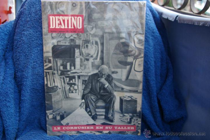 LE COURBUSIER-PORTADA DE REVISTA DESTINO 1965 (Coleccionismo - Revistas y Periódicos Modernos (a partir de 1.940) - Revista Destino)