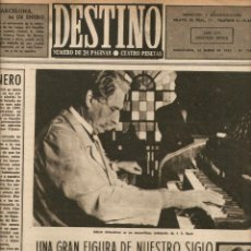 Collectionnisme de Magazine Destino: AÑO 1952 ALBERT SCHWEITZER VENTOSA CALVELL CRUZ LA JUNQUERA EUCOLOGI MOSEN VICENTE SORRIBES MISAL. Lote 44452108