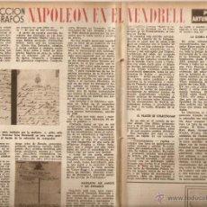 Coleccionismo de Revista Destino: AÑO 1952 SPONTEX BISHOP URIACH AUTOGRAFOS NAPOLEON EN EL VENDRELL COLONIA DOCE POESIA JUAN VINYOLI. Lote 44471957