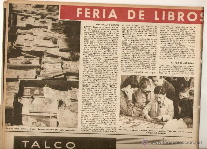 Coleccionismo de Revista Destino: AÑO 1952 ALFOMBRA FLORES CALLE DEL CARMEN BCNA FERIA LIBROS VIEJOS MERCAT SANT ANTONI SEGOVIA POESIA - Foto 2 - 44493967