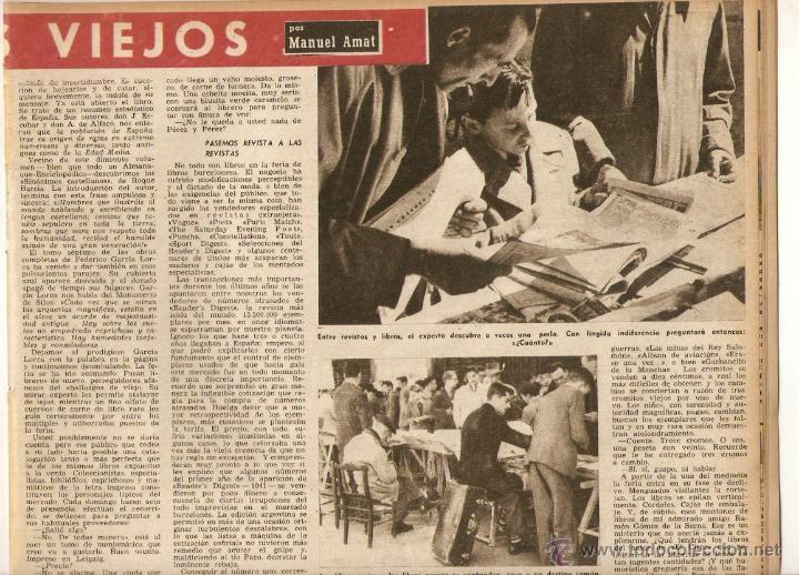 Coleccionismo de Revista Destino: AÑO 1952 ALFOMBRA FLORES CALLE DEL CARMEN BCNA FERIA LIBROS VIEJOS MERCAT SANT ANTONI SEGOVIA POESIA - Foto 3 - 44493967