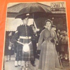 Coleccionismo de Revista Destino: . REVISTA DESTINO Nº952 5 NOVIEMBRE 1955. Lote 44687165
