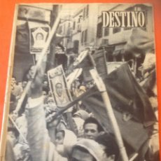 Coleccionismo de Revista Destino: . REVISTA DESTINO Nº953 12 NOVIEMBRE 1955. Lote 44687179