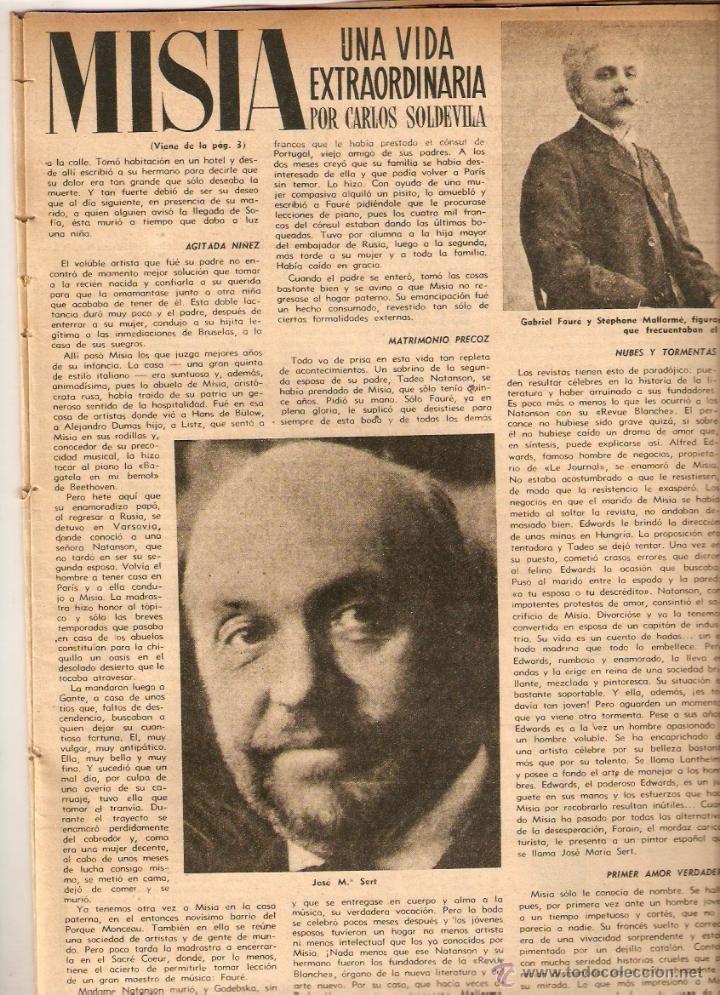Coleccionismo de Revista Destino: AÑO 1952 MISIA JOSE MARIA SERT VERDAGUER FOLGUEROLES COSTA BRAVA CADAQUES TOSSA SAGARO AIGUA BLAVA - Foto 2 - 44717608