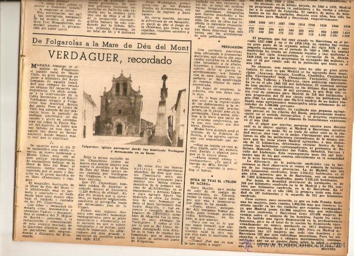 Coleccionismo de Revista Destino: AÑO 1952 MISIA JOSE MARIA SERT VERDAGUER FOLGUEROLES COSTA BRAVA CADAQUES TOSSA SAGARO AIGUA BLAVA - Foto 3 - 44717608