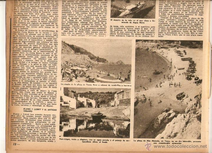Coleccionismo de Revista Destino: AÑO 1952 MISIA JOSE MARIA SERT VERDAGUER FOLGUEROLES COSTA BRAVA CADAQUES TOSSA SAGARO AIGUA BLAVA - Foto 4 - 44717608