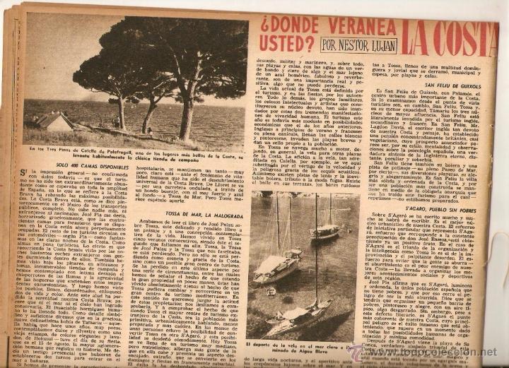 Coleccionismo de Revista Destino: AÑO 1952 MISIA JOSE MARIA SERT VERDAGUER FOLGUEROLES COSTA BRAVA CADAQUES TOSSA SAGARO AIGUA BLAVA - Foto 5 - 44717608