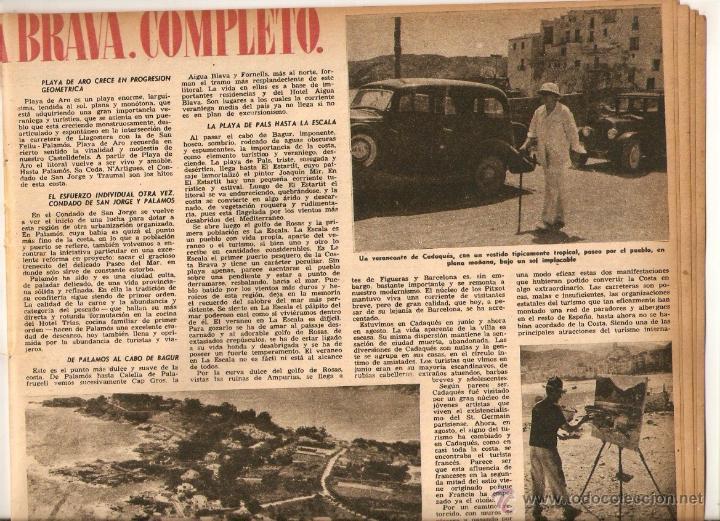 Coleccionismo de Revista Destino: AÑO 1952 MISIA JOSE MARIA SERT VERDAGUER FOLGUEROLES COSTA BRAVA CADAQUES TOSSA SAGARO AIGUA BLAVA - Foto 6 - 44717608