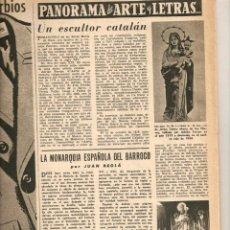 Coleccionismo de Revista Destino: AÑO 1955 ESCULTURA CAMPS ARNAU CHOCOLATES BATANGA EIVISSA CORONACION VIRGEN IBIZA TROFEO MARTINI. Lote 44968513
