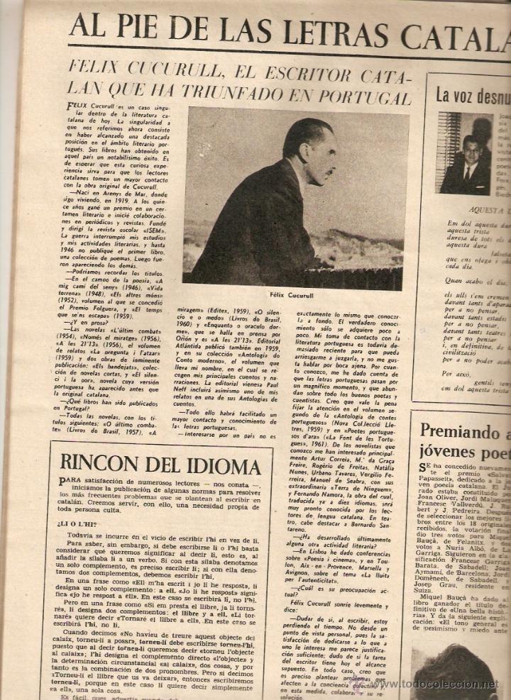 Coleccionismo de Revista Destino: AÑO 1962 EMILIO BRUGALLA ENCUADERNACION FELIX CUCURULL EL CIRCO MUSICA PARA ORQUESTA MOMPOU PROFIDEN - Foto 3 - 45036513