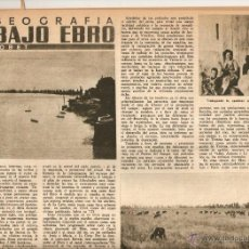 Coleccionismo de Revista Destino: AÑO 1955 BAJO EBRO DELTA DE L'EBRE ROQUETES REGUERS ATLETISMO COLL INTENTO RECORD 10.000. Lote 45052987