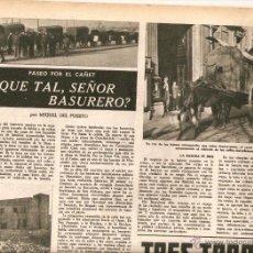 Coleccionismo de Revista Destino: AÑO 1947 BASURERO BARRIO EL CAÑET VINO TRES TORRES ESCULTURA JOSE CAÑAS MARIONA REBULL COLISEUM CINE. Lote 45058638