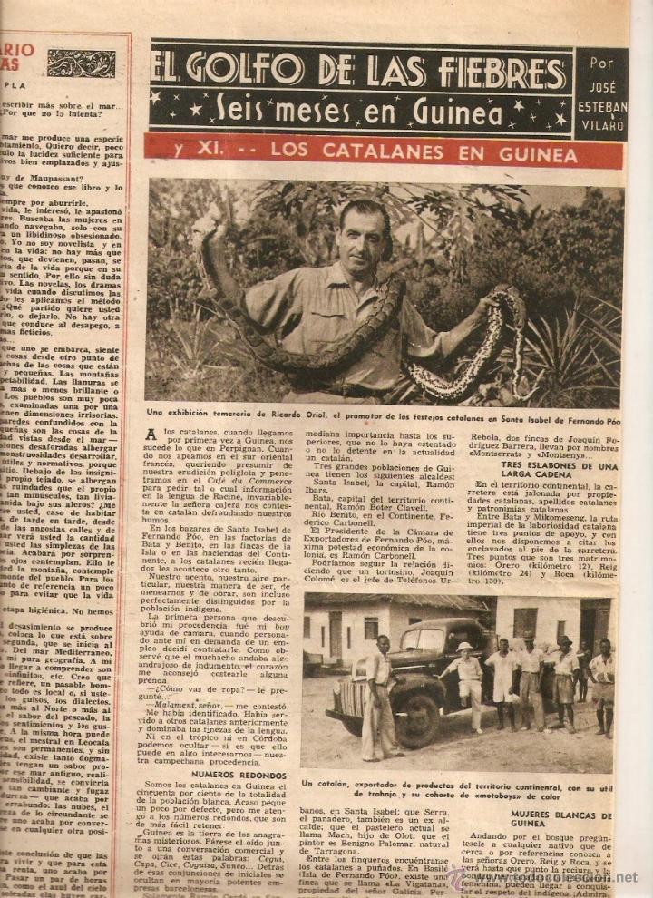 AÑO 1947 LOS CATALANES EN GUINEA BATA EMPRESAS FACTORIAS CATALANAS TOMAS VALLS EL BARATO (Coleccionismo - Revistas y Periódicos Modernos (a partir de 1.940) - Revista Destino)