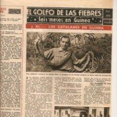Coleccionismo de Revista Destino: AÑO 1947 LOS CATALANES EN GUINEA BATA EMPRESAS FACTORIAS CATALANAS TOMAS VALLS EL BARATO. Lote 45058736
