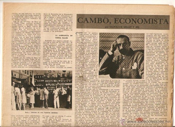 Coleccionismo de Revista Destino: AÑO 1947 LOS CATALANES EN GUINEA BATA EMPRESAS FACTORIAS CATALANAS TOMAS VALLS EL BARATO - Foto 2 - 45058736