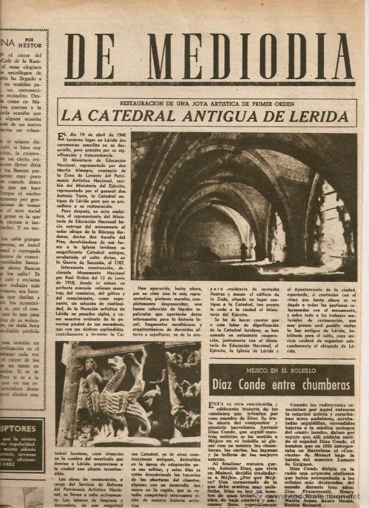 año 1949 catedral antigua lleida lerida premio - Comprar Revista ...