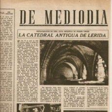 Coleccionismo de Revista Destino: AÑO 1949 CATEDRAL ANTIGUA LLEIDA LERIDA PREMIO SEBASTIAN JUAN ARBO PREMIO NADAL SANTIAGO MARCO. Lote 45068111