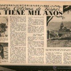 Coleccionismo de Revista Destino: AÑO 1950 HISTORIA SANTA COLOMA DE FARNERS JOAQUIM RUIYRA DECORADO GRAU SALA SURIA CROSS CAMPEONATO . Lote 45068990
