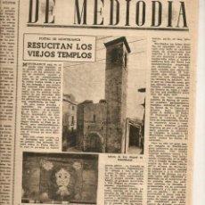Coleccionismo de Revista Destino: AÑO 1948 SANT MIQUEL DE MONTBLANC COÑAC BERTOLA JEREZ FUTBOL EL ALCOYANO EUGENIO DE NORA POESIA. Lote 45071385