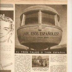 Coleccionismo de Revista Destino: AÑO 1949 MONTNEGRE FERROCARRIL TREN TALGO ESPAÑOL JOSEP PLA LLOFRIU ENRIQUE GUITART CINE ACTOR. Lote 45072058