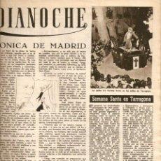 Coleccionismo de Revista Destino: AÑO 1951 SEMANA SANTA TARRAGONA PROCESION VIERNES SANTO VALENTIN CASTANYS RAFAEL ZABALETA PINTURA. Lote 45141361