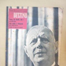 Coleccionismo de Revista Destino: 50 REVISTA DESTINO - NUMEROS 1118 Y 1120 AL 1168 - AÑO 1959. Lote 177897497
