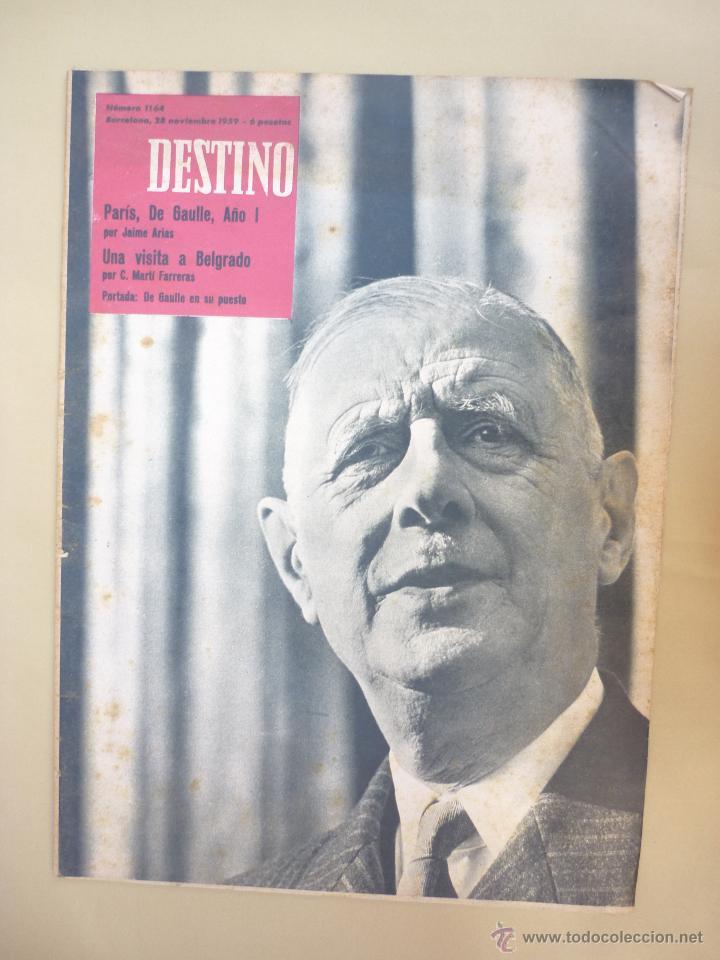 Coleccionismo de Revista Destino: 50 REVISTA DESTINO - NUMEROS 1118 y 1120 AL 1168 - AÑO 1959 - Foto 3 - 177897497