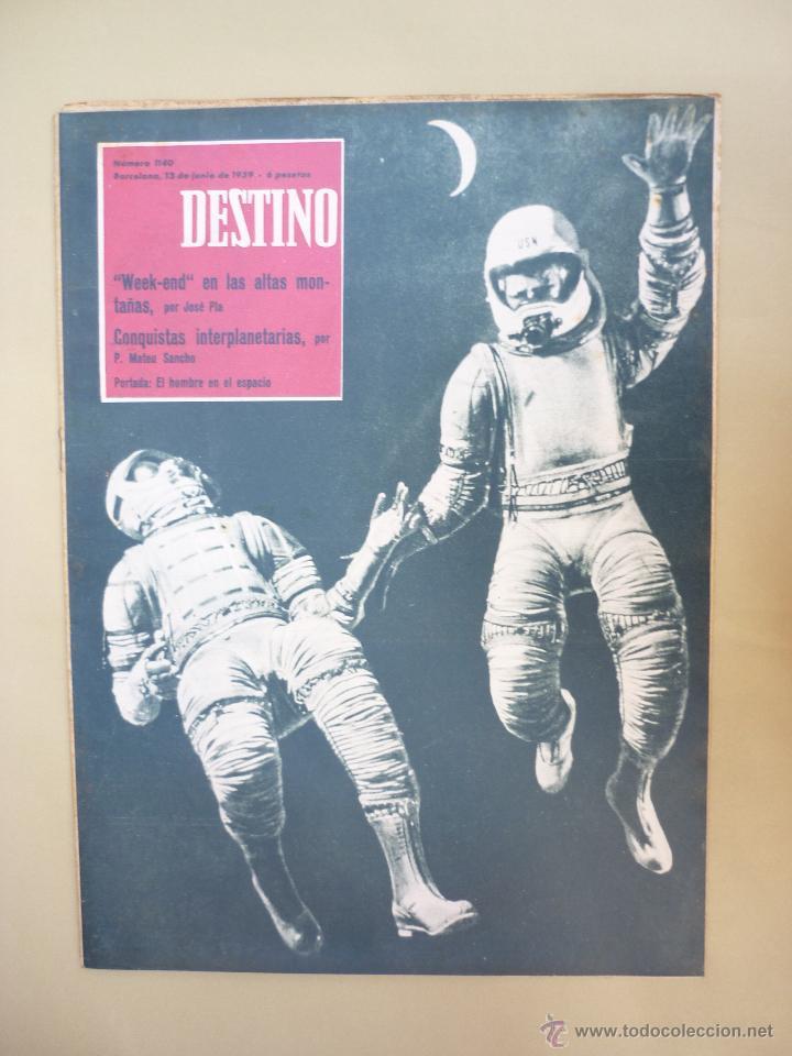 Coleccionismo de Revista Destino: 50 REVISTA DESTINO - NUMEROS 1118 y 1120 AL 1168 - AÑO 1959 - Foto 4 - 177897497
