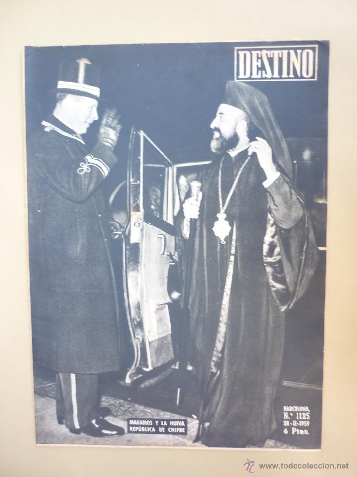 Coleccionismo de Revista Destino: 50 REVISTA DESTINO - NUMEROS 1118 y 1120 AL 1168 - AÑO 1959 - Foto 5 - 177897497