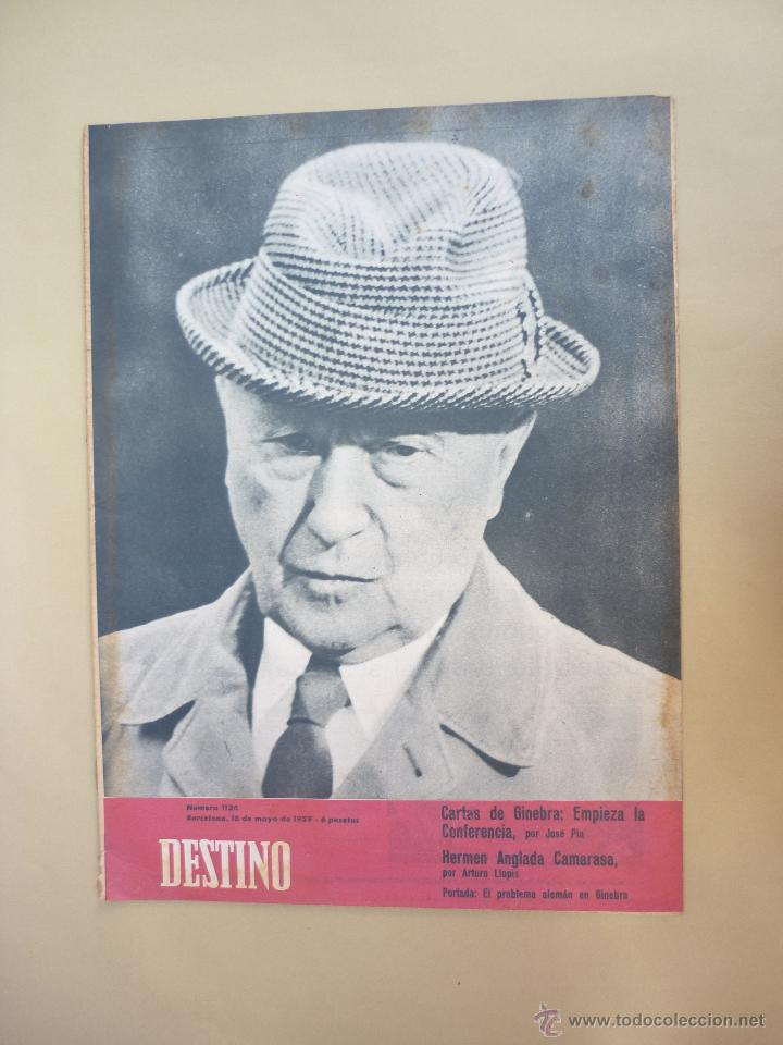 Coleccionismo de Revista Destino: 50 REVISTA DESTINO - NUMEROS 1118 y 1120 AL 1168 - AÑO 1959 - Foto 6 - 177897497
