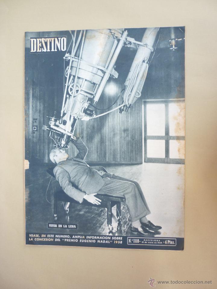Coleccionismo de Revista Destino: 50 REVISTA DESTINO - NUMEROS 1118 y 1120 AL 1168 - AÑO 1959 - Foto 7 - 177897497