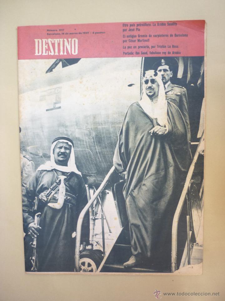 Coleccionismo de Revista Destino: 50 REVISTA DESTINO - NUMEROS 1118 y 1120 AL 1168 - AÑO 1959 - Foto 8 - 177897497