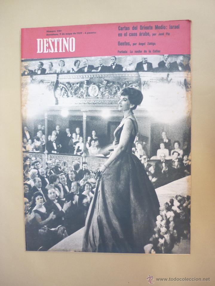 Coleccionismo de Revista Destino: 50 REVISTA DESTINO - NUMEROS 1118 y 1120 AL 1168 - AÑO 1959 - Foto 9 - 177897497