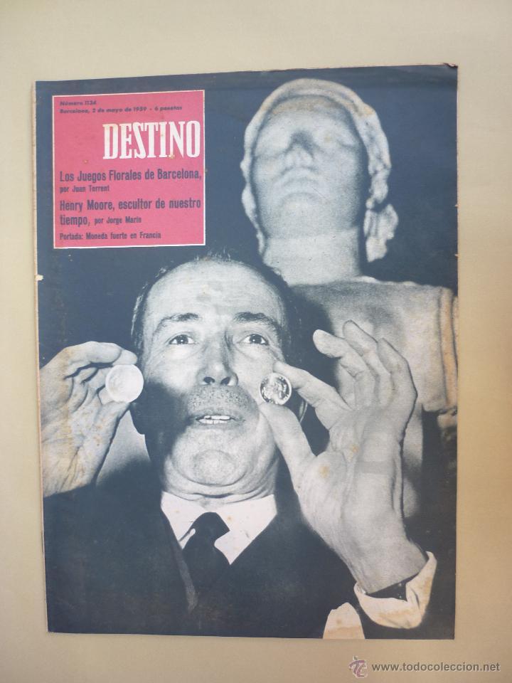 Coleccionismo de Revista Destino: 50 REVISTA DESTINO - NUMEROS 1118 y 1120 AL 1168 - AÑO 1959 - Foto 10 - 177897497
