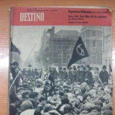 Colecionismo da Revista Destino: REVISTA DESTINO Nº 1239.EL PROCESO EICHMANN. FRANCO POR TIERRAS ANDALUZAS. 6 MAYO 1961. Lote 46774172