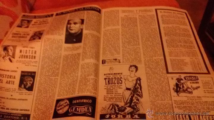 Coleccionismo de Revista Destino: PERIODICO DESTINO - 18 DE JULIO 1953 - FRANCO - BARCELONA - Foto 5 - 47375031