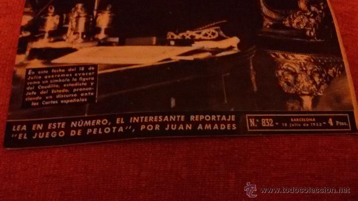 Coleccionismo de Revista Destino: PERIODICO DESTINO - 18 DE JULIO 1953 - FRANCO - BARCELONA - Foto 9 - 47375031