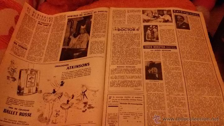 Coleccionismo de Revista Destino: PERIODICO DESTINO - 10 DE JULIO 1954 - BARCELONA -KUBALA FUTBOL FUTBOLISTA - Foto 5 - 47375055