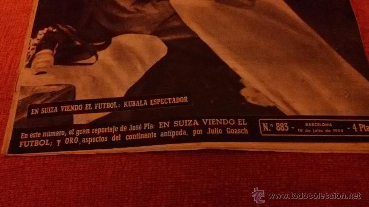 Coleccionismo de Revista Destino: PERIODICO DESTINO - 10 DE JULIO 1954 - BARCELONA -KUBALA FUTBOL FUTBOLISTA - Foto 6 - 47375055