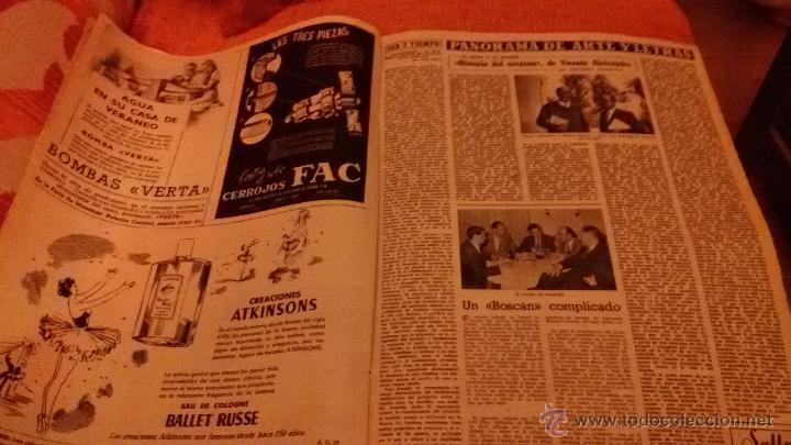 Coleccionismo de Revista Destino: PERIODICO DESTINO - 12 DE JUNIO 1954 - BARCELONA - - Foto 4 - 47375094