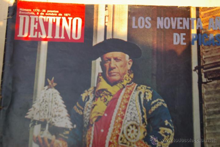 PICASSO -PORTADA DE DESTINO DE 1971- (Coleccionismo - Revistas y Periódicos Modernos (a partir de 1.940) - Revista Destino)