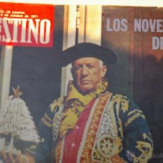 Coleccionismo de Revista Destino: PICASSO -PORTADA DE DESTINO DE 1971-. Lote 48724031