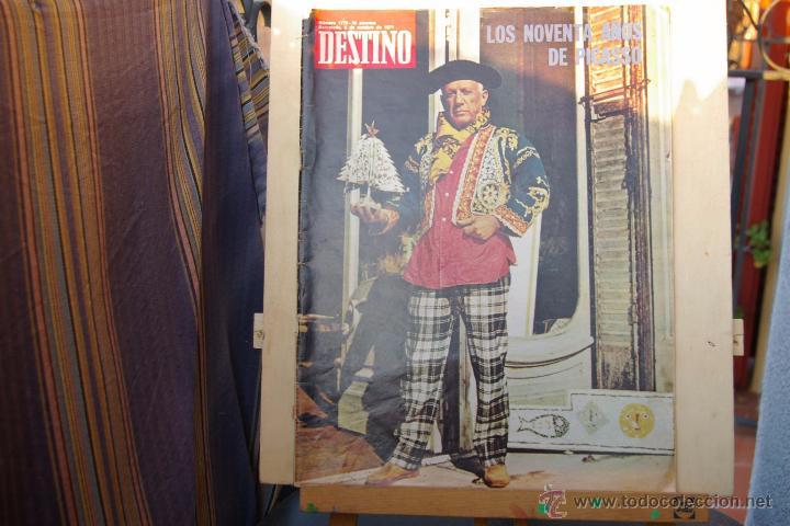 Coleccionismo de Revista Destino: PICASSO -PORTADA DE DESTINO DE 1971- - Foto 2 - 48724031