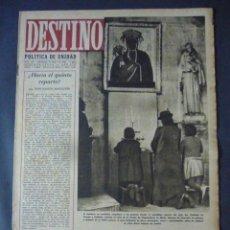 Coleccionismo de Revista Destino: REVISTA DESTINO Nº 339- 15 DE ENERO 1944-EL FUSILAMIENTO DE CIANO Y DE DI BONO-EL GRECO EN LITIGIO. Lote 49410602