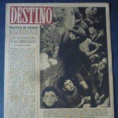 Coleccionismo de Revista Destino: REVISTA DESTINO Nº 338-8 DE ENERO 1944-LAS VICTORIAS NAVALES JAPONESAS-VARIEDADES DE UNA POSTGUERRA. Lote 49410635